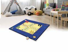 Hrací koberec Človeče nezlob se + figurky a kostka 92x92