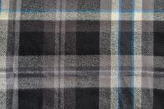 Londog Pánská flanelová bundokošile, Black/Grey/Blue 3XL