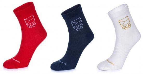 ALPINE PRO trojité balení unisex ponožek Natsuko