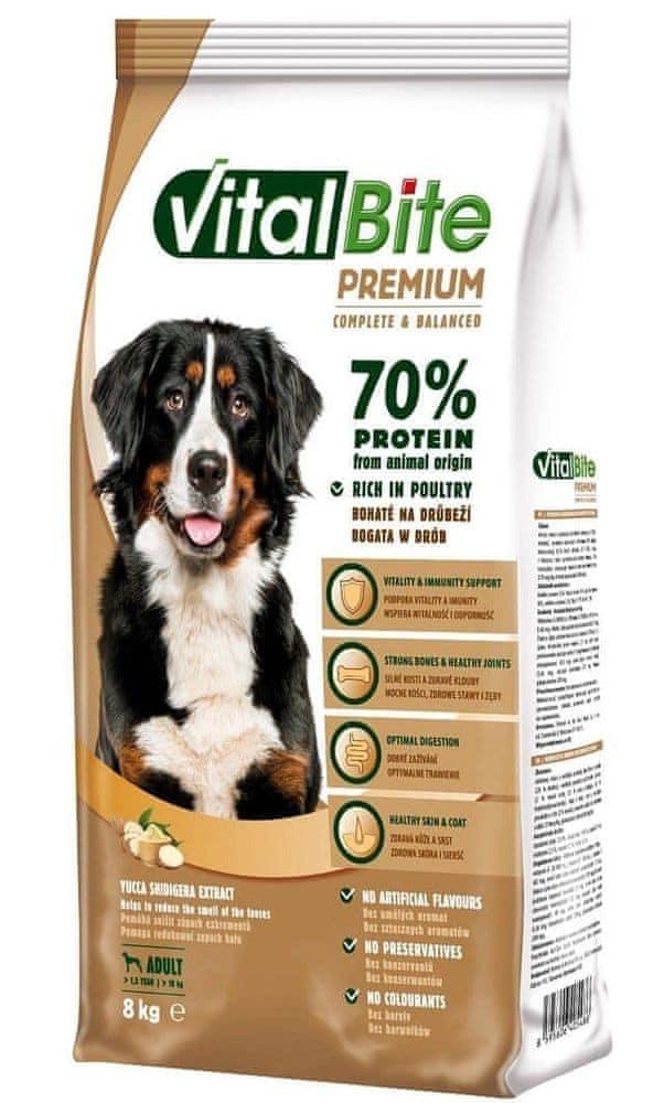 VitalBite Prémiové granule pro psy 8 kg