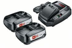 Bosch Set akumulátorů 2× PBA 18V 2,5 Ah + nabíječky AL1830 (1600A011LD)