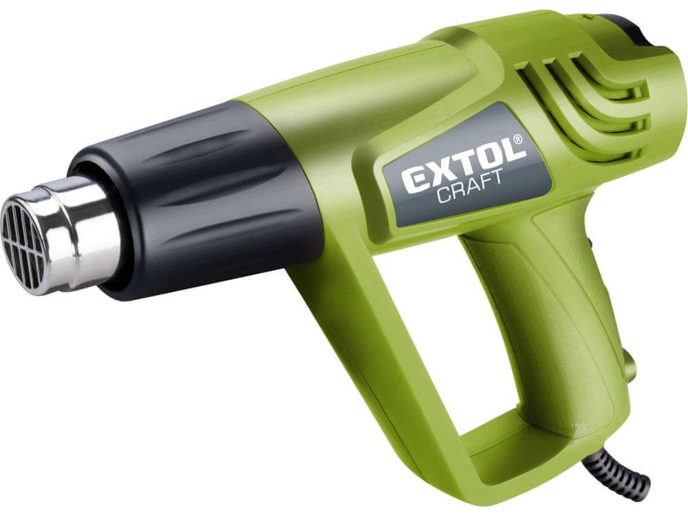 Extol Craft Pistole horkovzdušná s příslušenstvím, 2000/1000W, 550/350°C