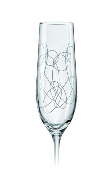 Crystalex kieliszki do szampana mix ELEMENTS 190 ml