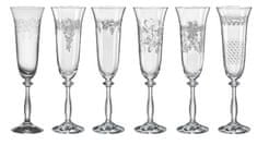 Crystalex kieliszki do szampana mix ROYAL PANTO 190 ml