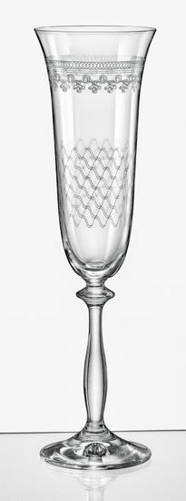 Crystalex Royal Panto mešanica kozarcev za šampanjec, 190 ml