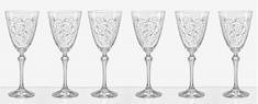 Crystalex LEAVES skleničky na červené víno 350 ml - rozbaleno