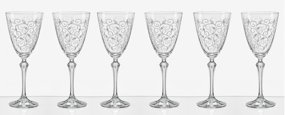 Crystalex LEAVES skleničky na bílé víno 250 ml