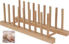 EXCELLENT Stojan na taniere alebo lopáriky bambus 34x12,5 cm