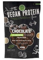 Nature's finest Bio Vegan Protein Shake mešanica, 63 % beljakovinska, čokoladna, 450 g