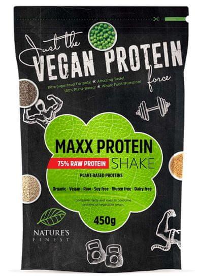 Nature's finest Bio Maxx Vegan Protein Shake napitak, 75 % proteina, 450 g