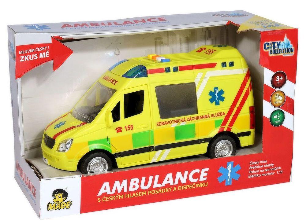 MaDe Ambulance na setrvačník se zvukem - zánovní
