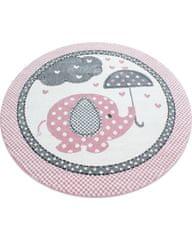 Ayyildiz Detský kusový koberec Kids 570 pink kruh 120x120 (průměr) kruh