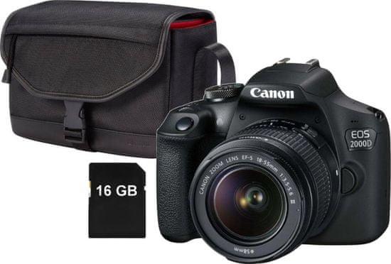 Canon aparat EOS 2000D + 18-55 Value Up Kit