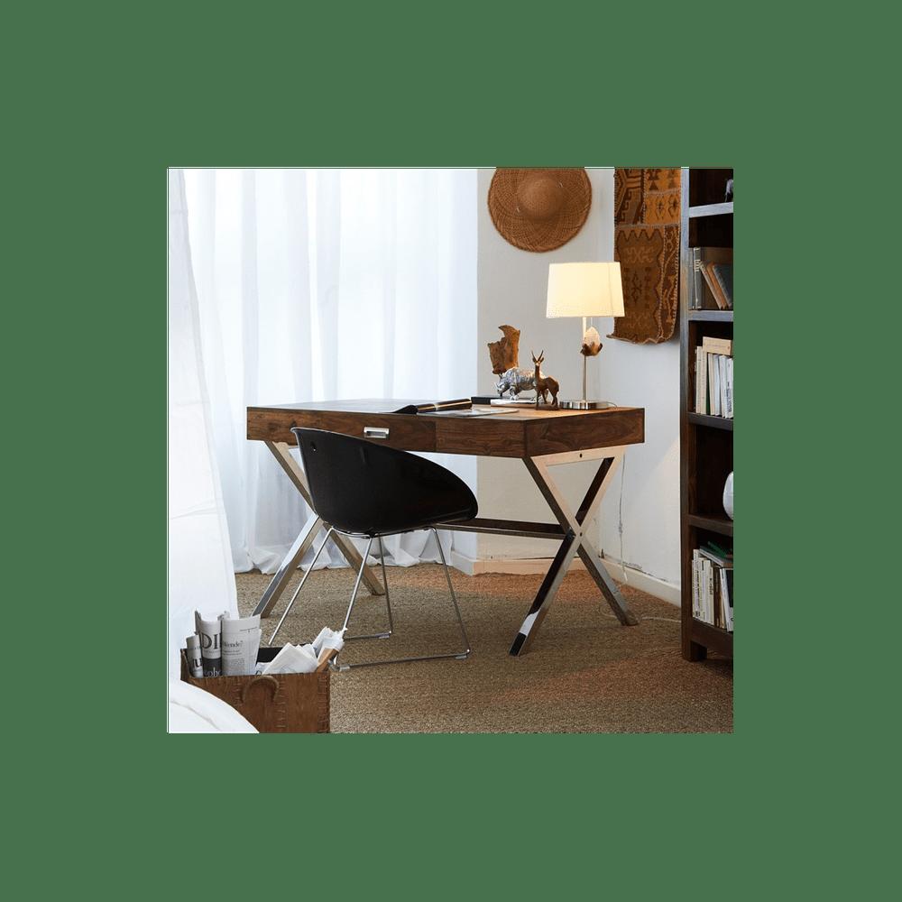 LAKŠMI Psací stůl z indického masivu palisandr, Světle medová