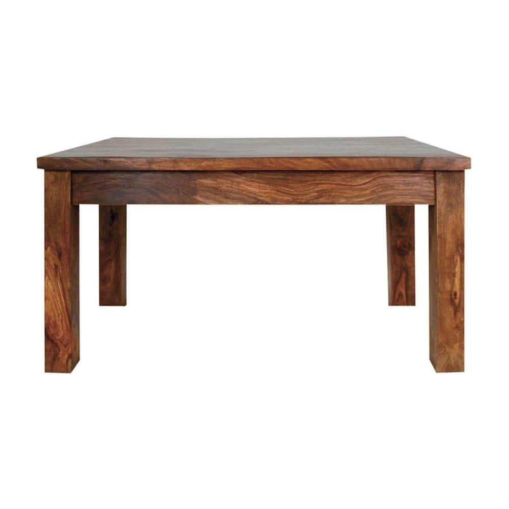 LAKŠMI Jídelní stůl Amba 175x90 z indického masivu palisandr, Světle medová