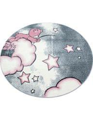 Ayyildiz Detský kusový koberec Kids 580 pink kruh 120x120 (průměr) kruh