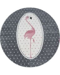 Ayyildiz Detský kusový koberec Kids 630 pink kruh 120x120 (průměr) kruh