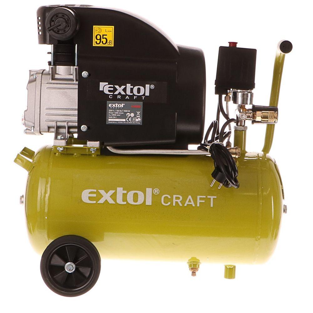 Extol Craft Kompresor olejový, 1500W, 24l