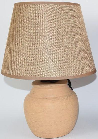 DUE ESSE Světle hnědá stolní lampa 30 cm, keramika