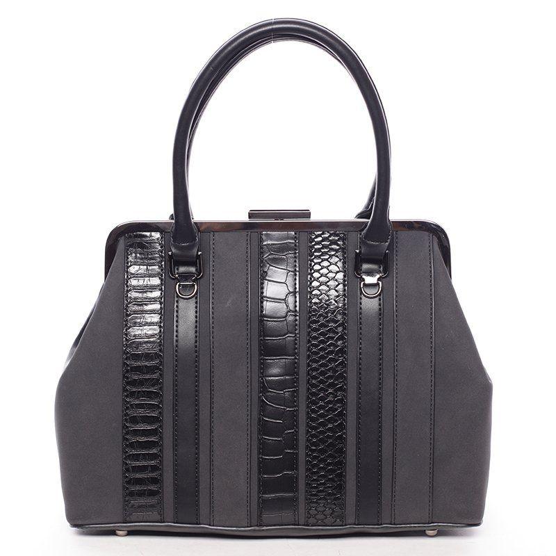David Jones Luxusní kabelka do ruky PAULETTE, černá