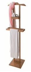 Compactor Bamboo bambusový stojan na oblečenie s odkladacou plochou - 44,5 × 32 × 115 cm