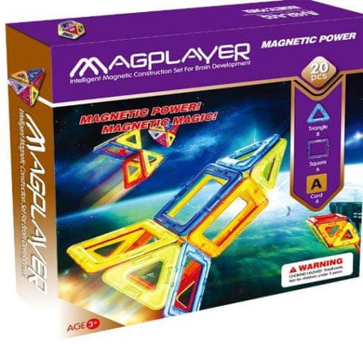 MAGPLAYER Magplayer magnetická stavebnice 20 ks