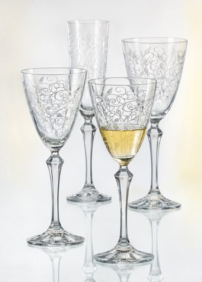 Crystalex kieliszki do czerwonego wina LEAVES 350 ml