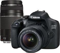 Canon aparat EOS 2000D + 18-55 DC III + 75-300 DC III (2728C051)