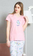 Vienetta Dámské pyžamo kapri Jednorožec barva světle růžová, velikost XL