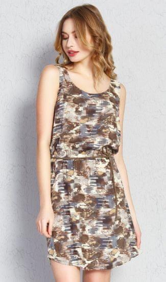 Vienetta Dámske šaty Jenny farba hnedá