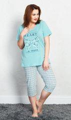 Vienetta Dámské pyžamo kapri Heart barva mentolová, velikost XL