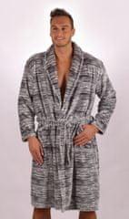 Stylomat Pánsky župan so šálovým límcom Šimon farba sivá, velikost XL