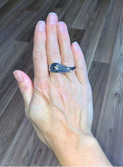 Engelsrufer Stříbrný prsten s andělským křídlem ERR-WING stříbro 925/1000