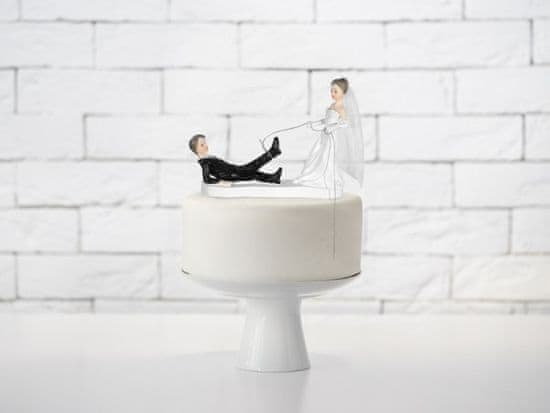 Paris Dekorace Svatební figurky ženich a nevěsta s lasem