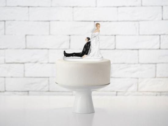Paris Dekorace Svatební figurky ženich a nevěsta s deštníkem