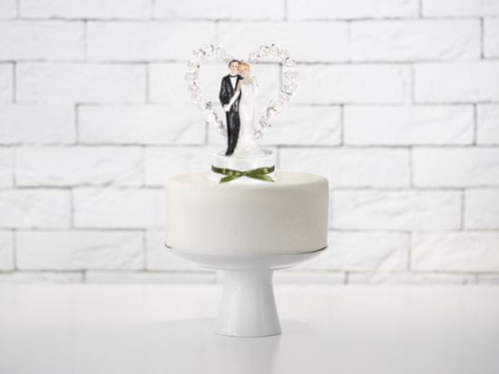 Paris Dekorace Figurka novomanželé na dort 15cm, bílá