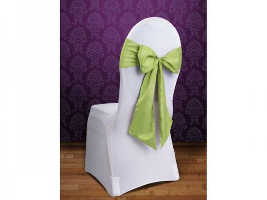Paris Dekorace Mašle na židle světlá zelená