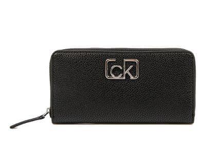 Calvin Klein Dámská peněženka Ck Cast Lrg Ziparound Black