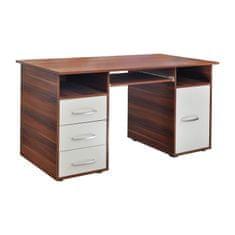 IDEA nábytok Písací stôl 60194 orech/biela