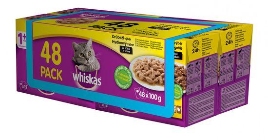 Whiskas izbor peradarskih džepova u soku za odrasle mačke, 48 x 100g