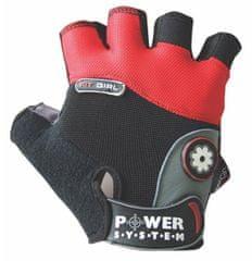 POWER SYSTEM fitness rukavice Fit Girl červené XS