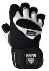 POWER SYSTEM Fitness rukavice Raw Power biele S