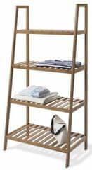 Compactor Bamboo Riga bambusová odkladacia polica - 4 poschodia, 60 × 35,5 × 120,5 cm