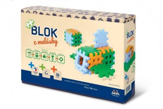 VISTA Stavebnice Blok z melásky 36ks v krabici 22x15x6cm 12m+