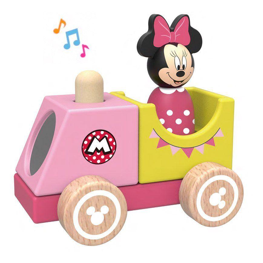 Derrson Disney Dřevěný vláček s Minnie