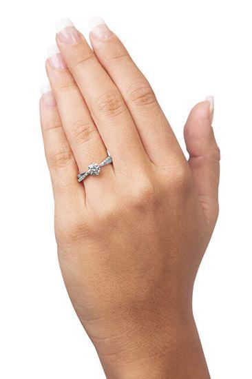 Brilio Silver Srebrni zaročni prstan 426 001 00533 04 srebro 925/1000