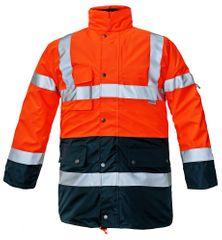 Cerva Zimní nepromokavá reflexní bunda Biroad 3v1 Hi-Vis oranžová L