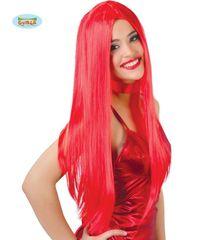Červená paruka dlouhá - unisex