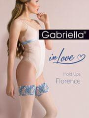 Gabriella Dámské punčochy Gabriella 626 Hold Ups Florenc 1-4 přírodní 1/2-XS/S