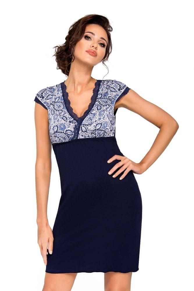 Donna Dámská noční košilka Donna Oktavia tmavě modrá 3XL